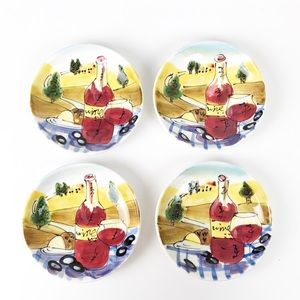 Kirkland's wine and cheese appetizer plates